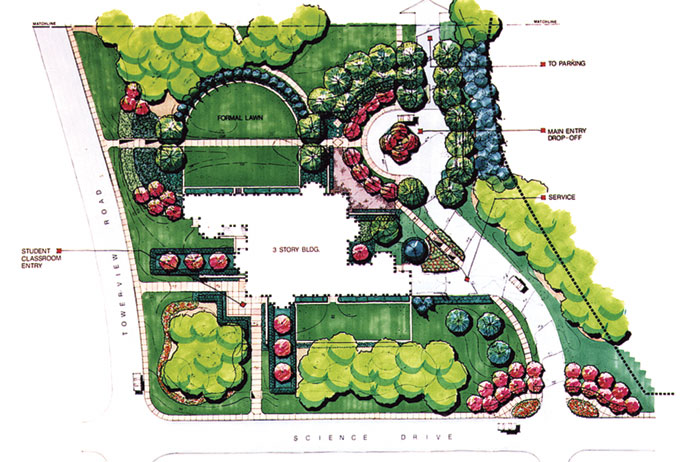 Image gallery modern landscape design plan for Garden planning and design